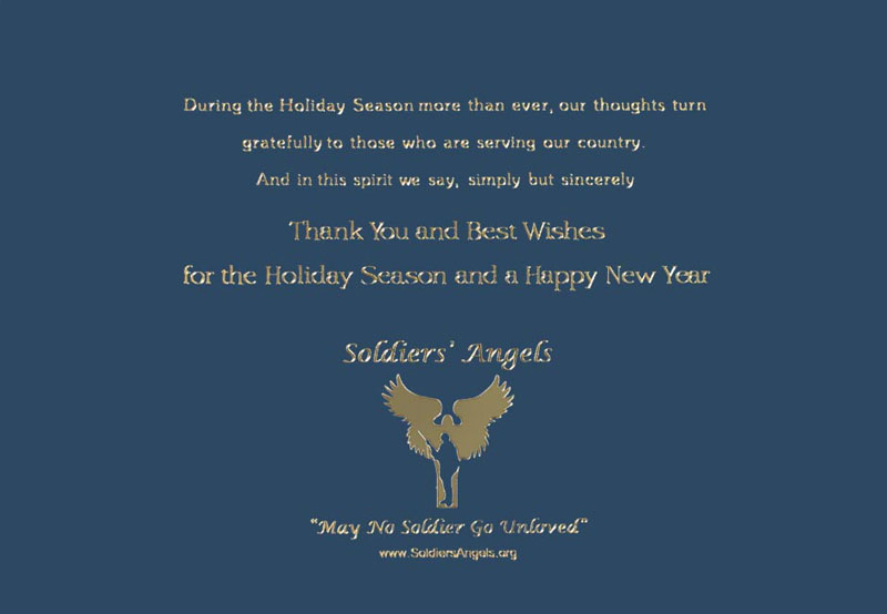 gallerycollection com supports soldiers angels with holiday cards