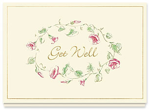 Design #115AY Vintage Get Well Card