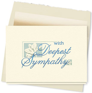 Design #019AT With Deepest Sympathy Card