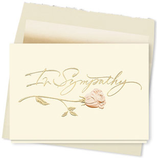 Design #660AY Sympathy Rose Card