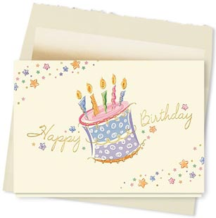 Design #692AY Cake and Candles! Birthday Card