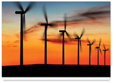 Environmental Image 2 - Wind Turbines at Sunset