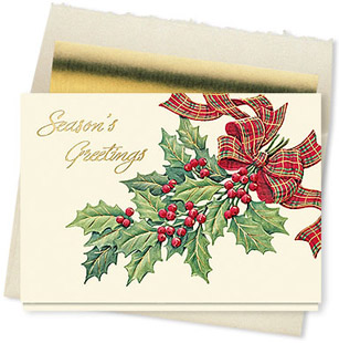 Design #067CX Holly Berry Greeting Card