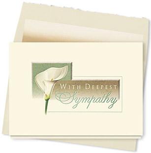 Design #087AY Lily Sympathy Card