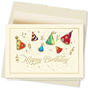 Design #088AY Hats Off to You Birthday Card