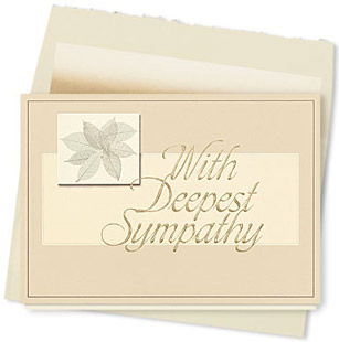 Design #100AY Peaceful Sympathy Card