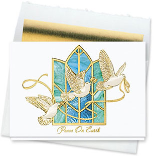 Design #151CW Wings of Peace Holiday Card