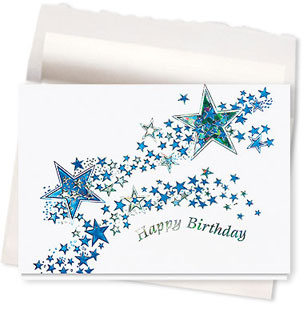 Design #435AE Starlight Birthday Card