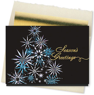 Design #820CX Holiday Starburst Card