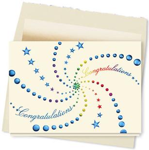 Design #104AY Stellar Congratulations Greeting Card