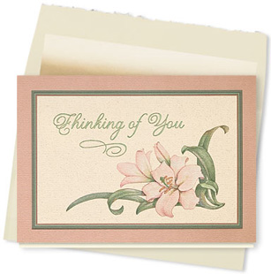 Design #049AY - Thinking of You Lilies Greeting Card