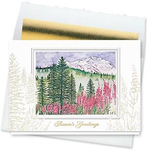 Design #129CW - Holiday Meadow Season's Greetings Card