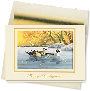 Design #611CX - Fall Reflections Thanksgiving Card