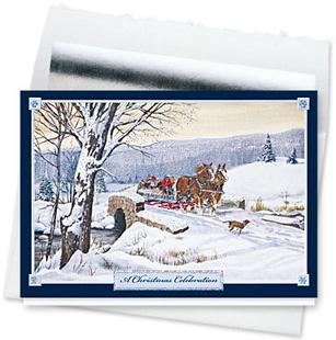 Design #143CS - A Christmas Celebration Holiday Card