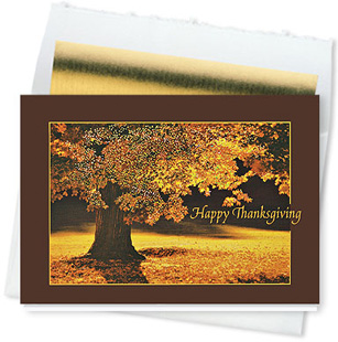 Design #577CW - Thanksgiving Glow Greeting Card