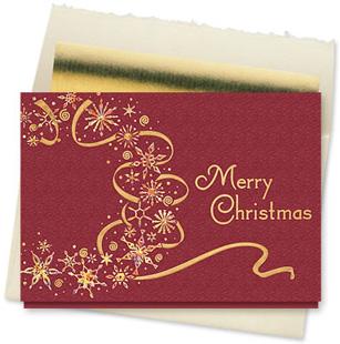 Design #830CX - Dazzling Christmas Wreath Card