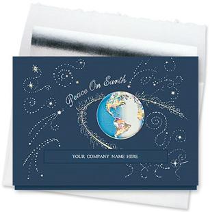 Design 897CS - Galactic Peace on Earth Die-Cut Holiday Card