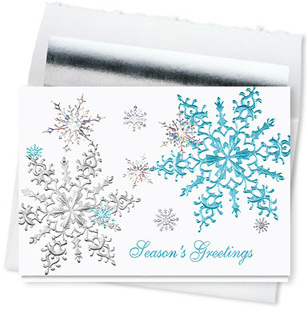 Design #587CS - Shimmering Snowflakes Season Greeting Card