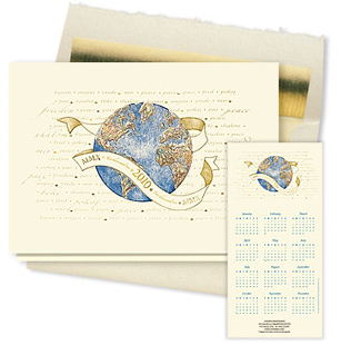 Design #921ZX - 2010 Peaceful Year Calendar Card