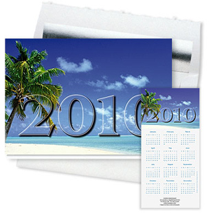 Design #925ZS - 2010 Ocean Breeze Calendar Card