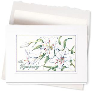 Design #341AR - Sympathy Lilies Card