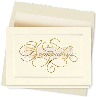 Design #376AY - In Sympathy Card