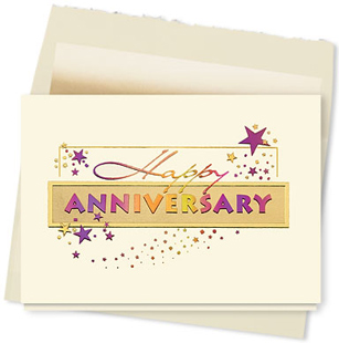 Design #634AY - Anniversary Wishes Card