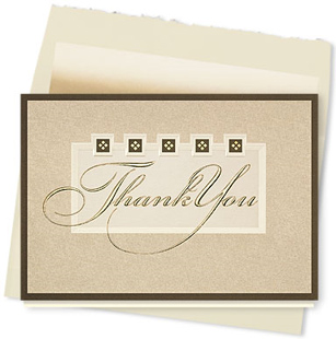 Design #691AY - Thank You Elegance Thank You Card