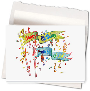 Design #567AR - Birthday Banner Greeting Card
