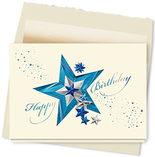 Design #085AT - Star Studded Birthday Card
