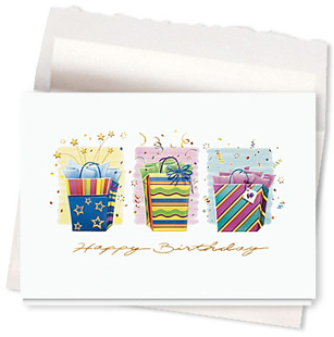 Design #089AR - Bursting with Birthday Wishes<br />Birthday Card