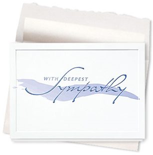 Design #103AE - Brushstroke Sympathy Greeting Card