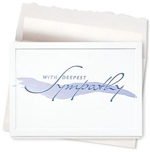 Design #103AE - Brushstroke Sympathy Greeting Card