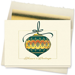 Design #127CX - Season's Greetings Jewel Holiday Card