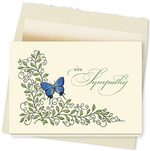 Design #316AY - Graceful Sympathy Card