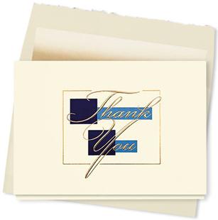 Design #325AY - Royal Thank You Card