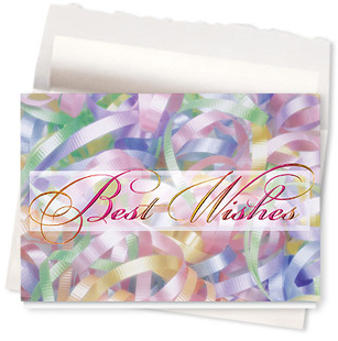 Design #590AR - Rainbow Ribbons Birthday Card