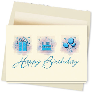 Design #667AT - Birthday Reflections Greeting Card