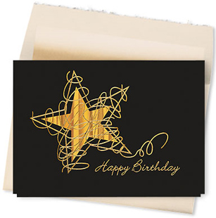 Design #808AY - Birthday Star Celebration Greeting Card
