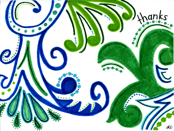 3rd annual create a greeting card scholarship winner sends artistic lauren ondreko the 3rd annual greeting card scholarship winner designed this thank you note m4hsunfo