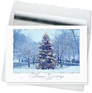 Design #082CS - City Glow Holiday Card