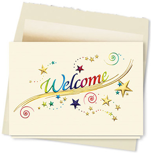 Design #171AY - Rainbow Welcome Card