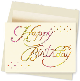 Design #335AY - Bedazzling Happy Birthday Card