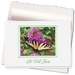 Design #564AR - Butterfly Wishes Get Well Card