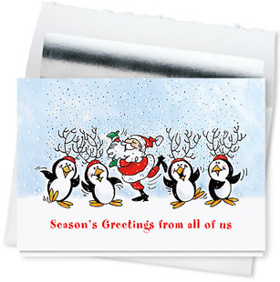 Design #584CS - Winter Frolic From All of Us Holiday Card