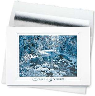Design #402CS - Winter Sparkle Holiday Card