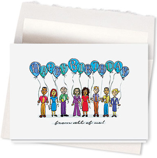 Design #504AR - Happy Birthday From All Of Us Greeting Card