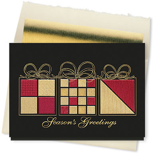 Design #856CX - Elegant Wrappings Seasons Greetings Card