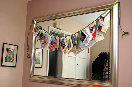 A clever way to display your business holiday cards and Christmas cards in your home.