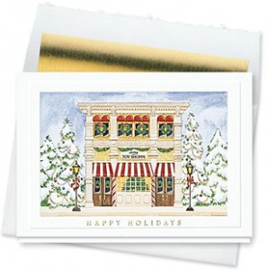 Design #157CW - Holiday Toy Shoppe Christmas Card